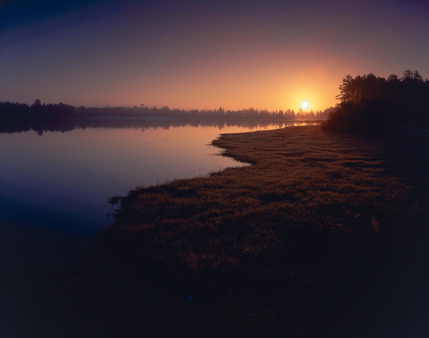 MORNING LIGHT AT SENEY NATIONAL WILDLIFE REFUGE, UPPER PENINSULA, MICHIGAN