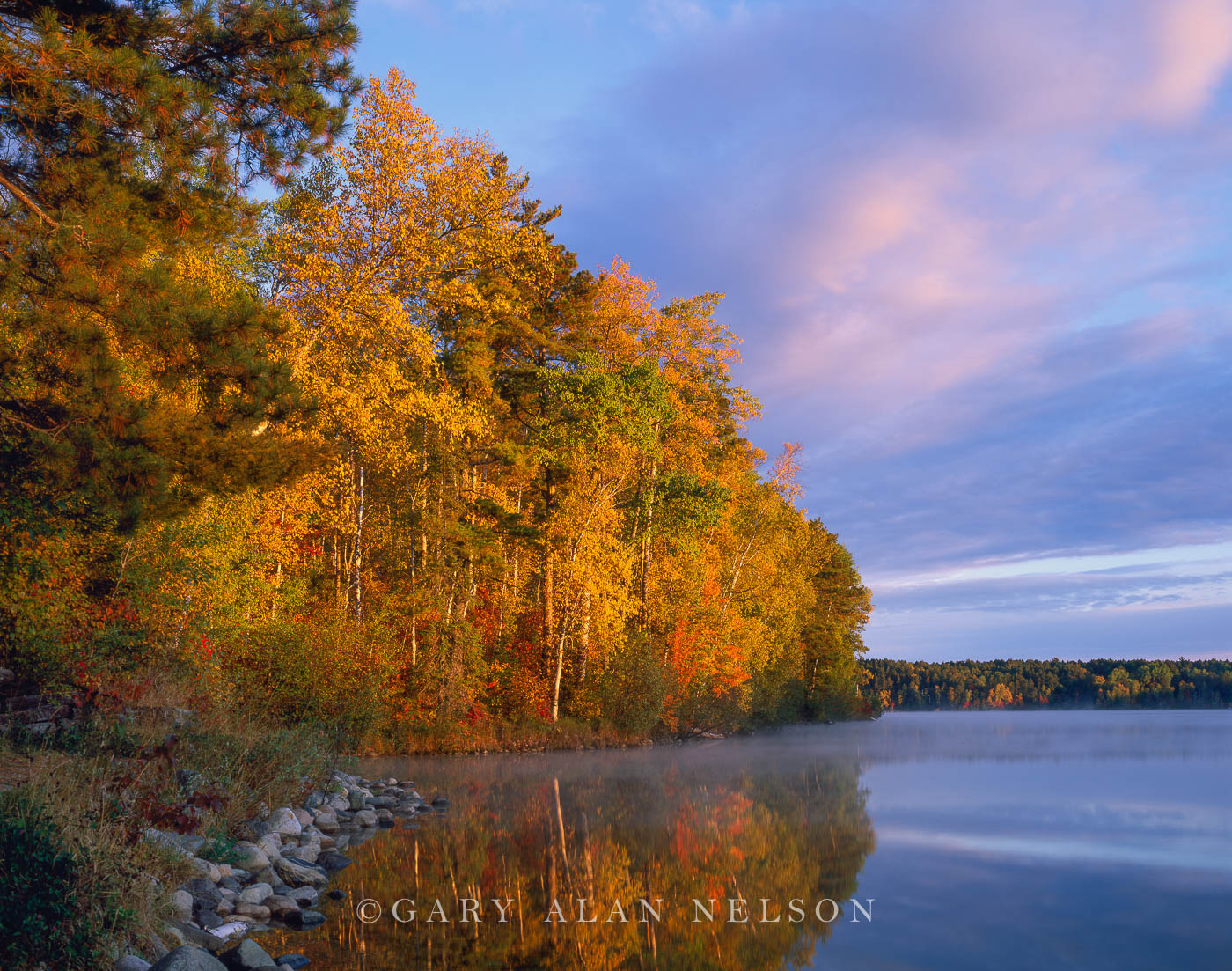national forest, lake, minnesota, autumn, photo