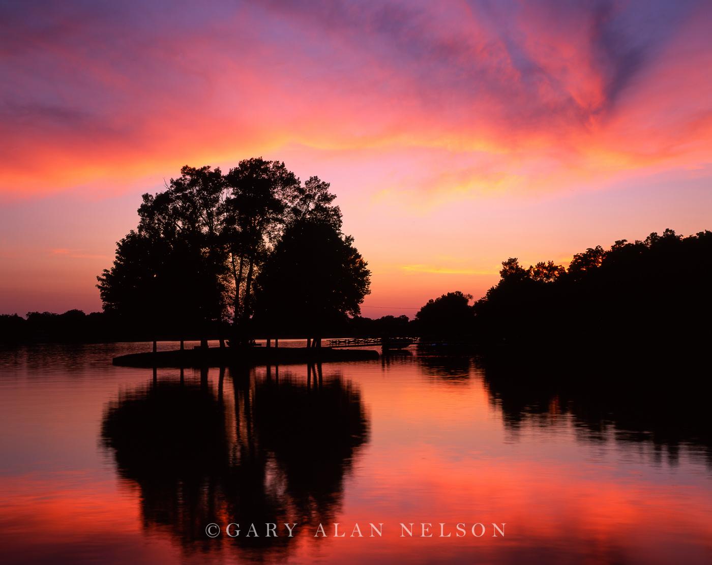 sunset, lake, minnesota, photo