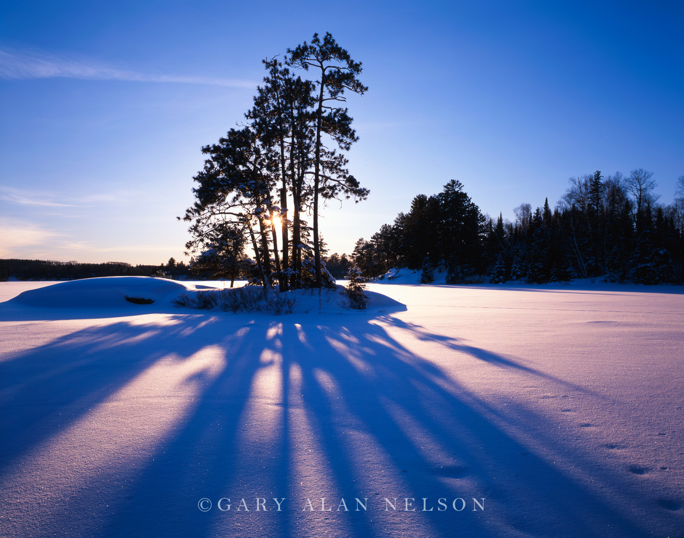 Snow,island,lake vermilion,minnesota,winter, photo
