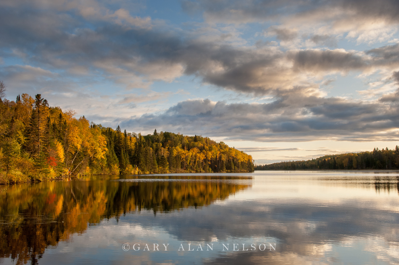 lake, superior national forest, minnesota, autumn, clouds, photo
