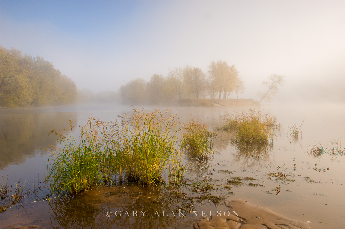 minnesota, wisconsin, fog, rising fog, island, st. croix river, national scenic river, photo