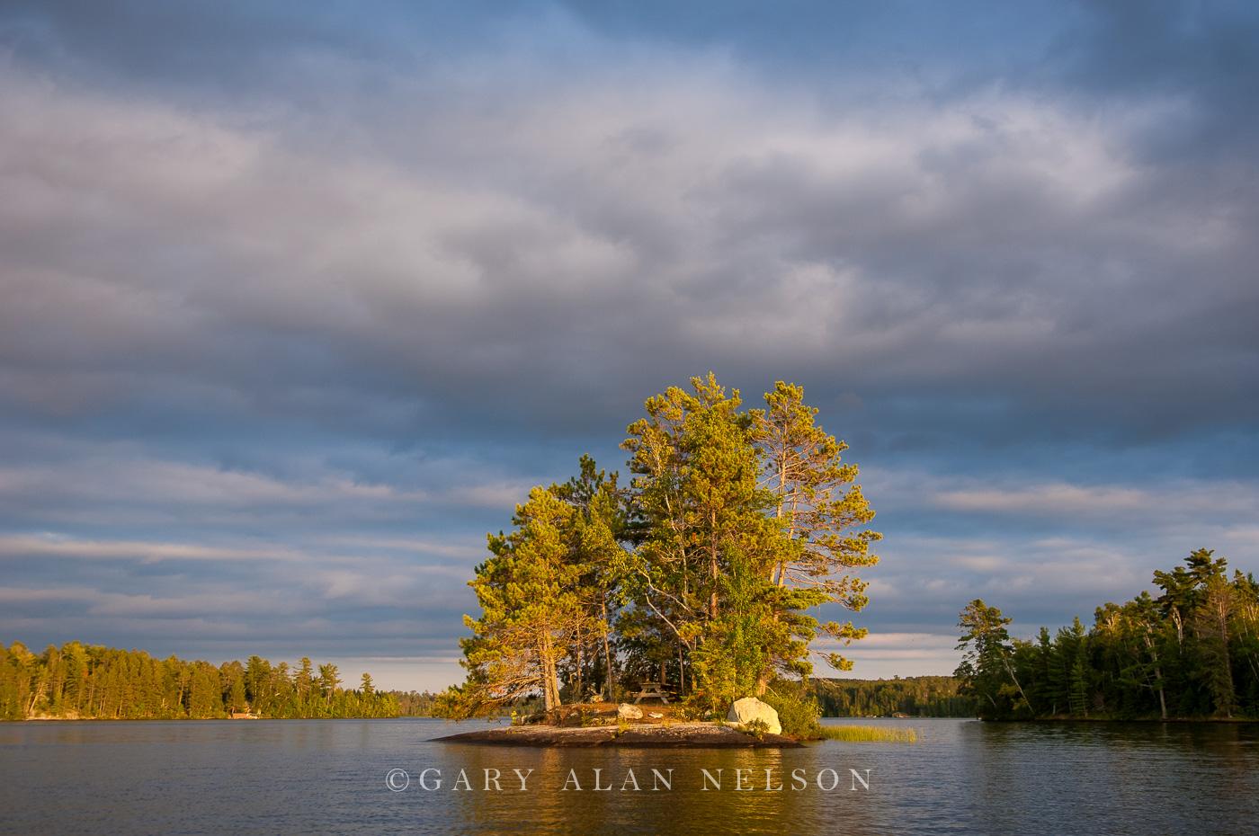 minnesota, lake, vermilion, storm clouds, island, photo