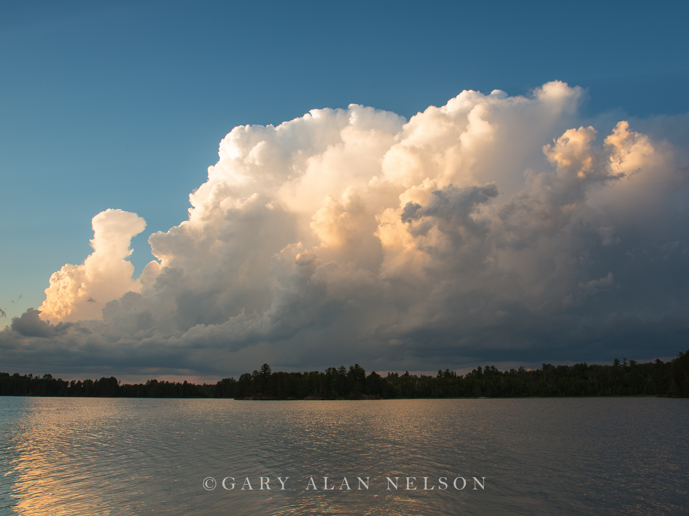 MN-12-118-CL Clouds at sunset, Lake Vermilion, Minnesota
