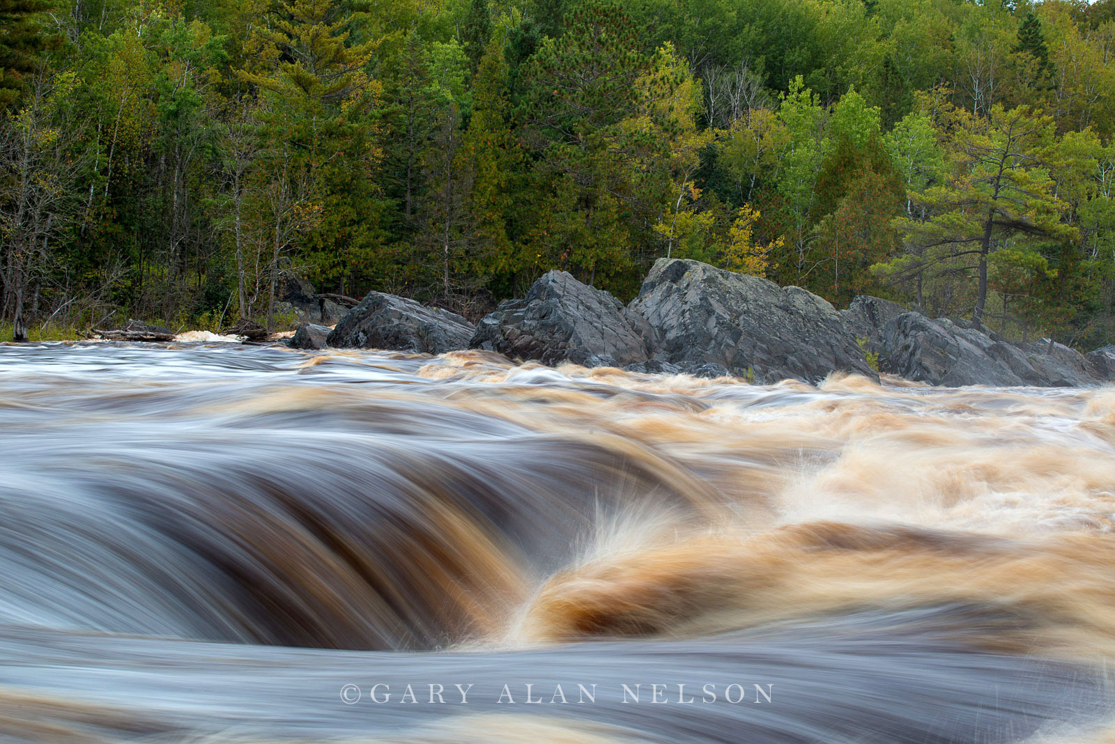 The roaring St. Louis River, J. Cooke State Park, Minnesota