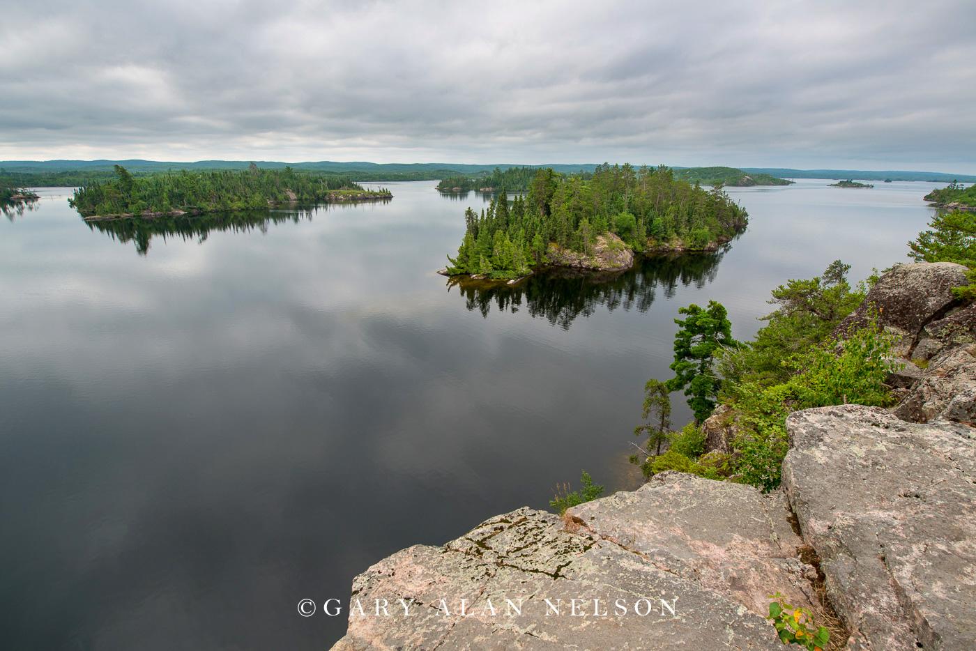 Cliffs overlooking Seagull Lake, Boundary Waters Canoe Area Wilderness, Minnesota/Canada