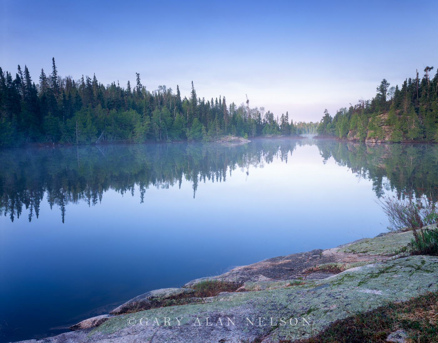 fog, minnesota, lake, wilderness, boundary waters, photo