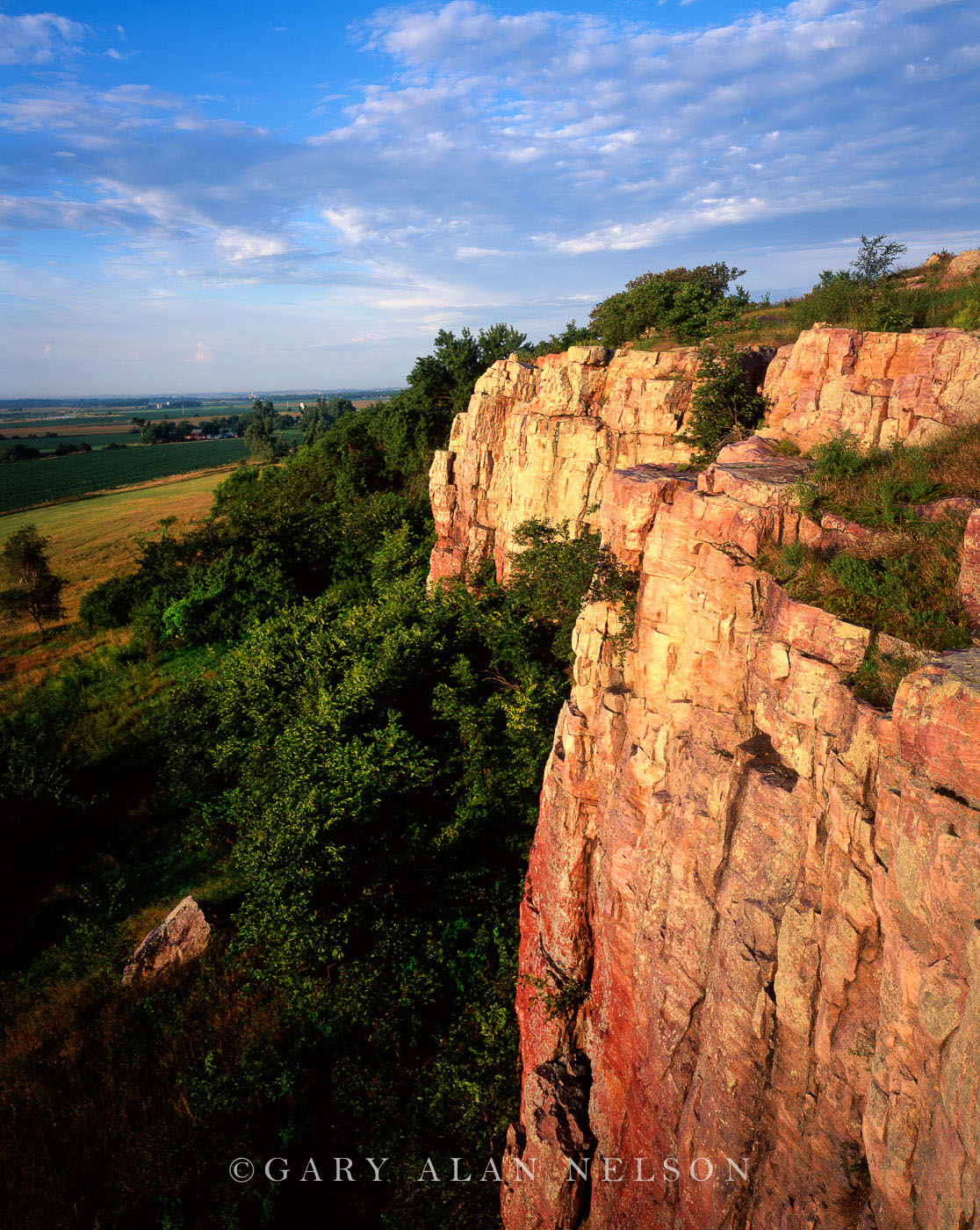 state park, minnesota sioux quartzite, cliffs, photo