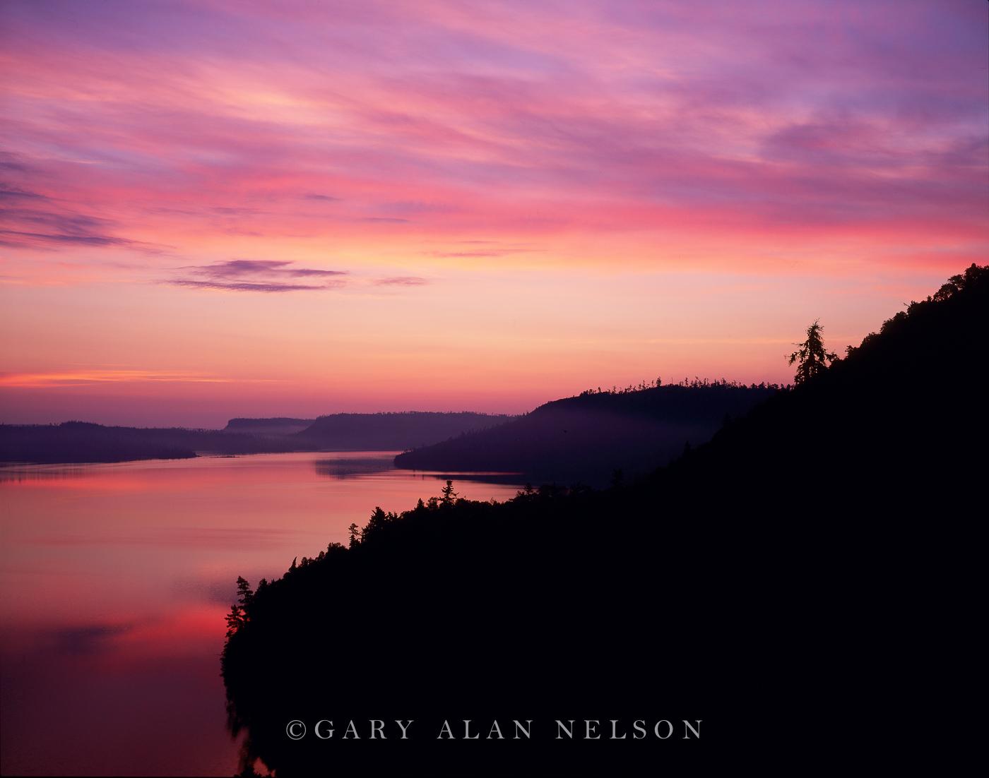 dawn, lake, sawtooth mountains, boundary waters, canoe, wilderness, minnesota, photo