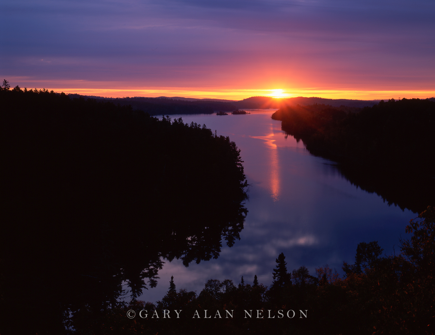 Sunrise,lake,minnesota,national forest, photo