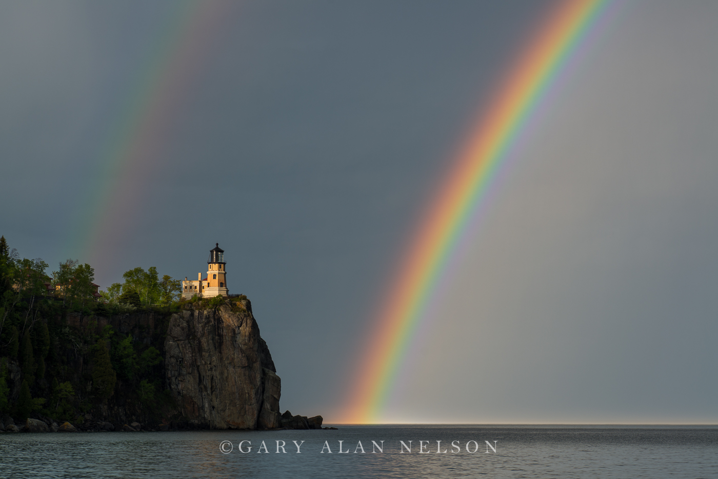 split rock, lake superior, lighthouse, minnesota, rainbow, state park, photo
