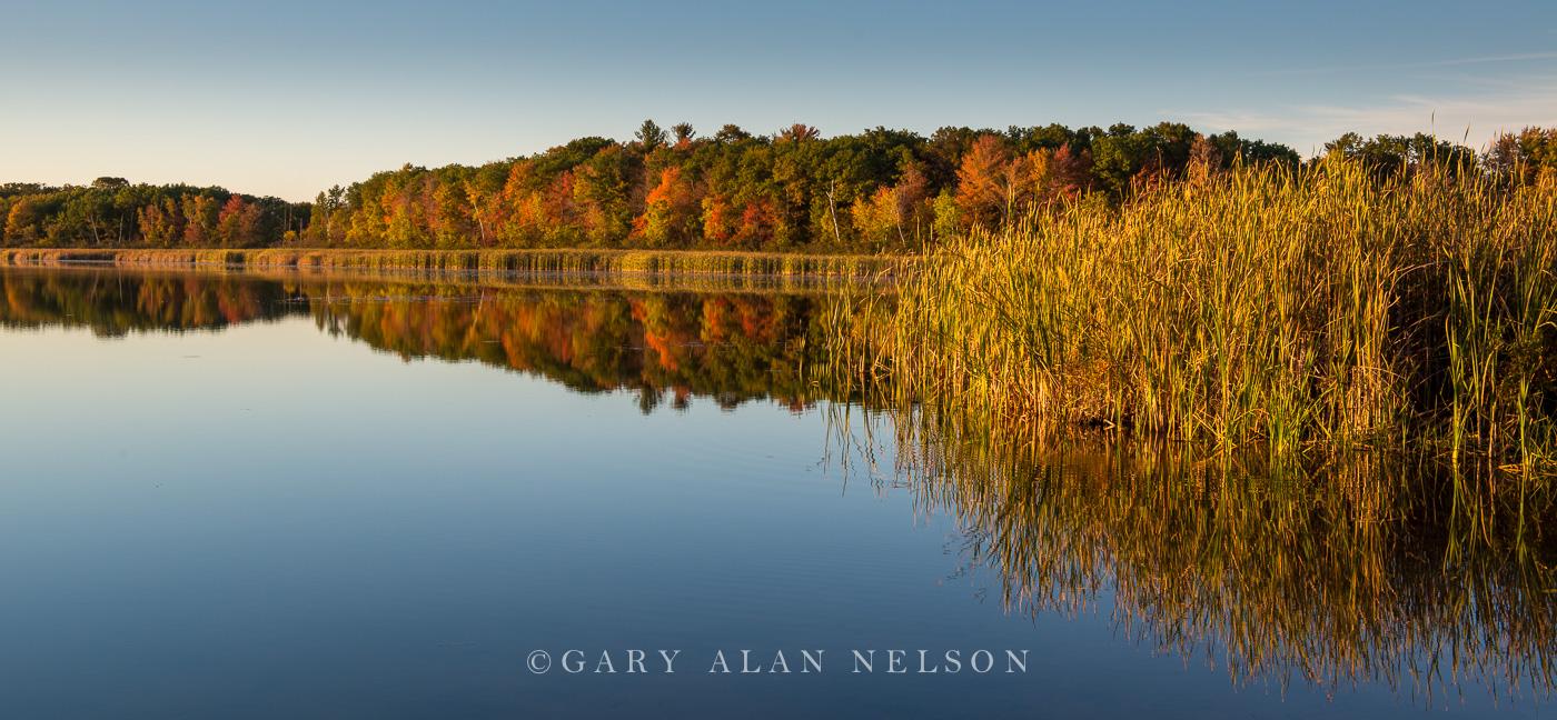 autumn,calm,lake,minnesota,reflections, photo