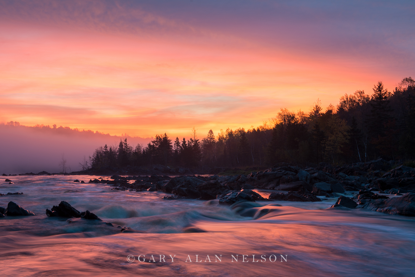 Sunrise over the St.Louis River, Jay Cooke State Park, Minesota