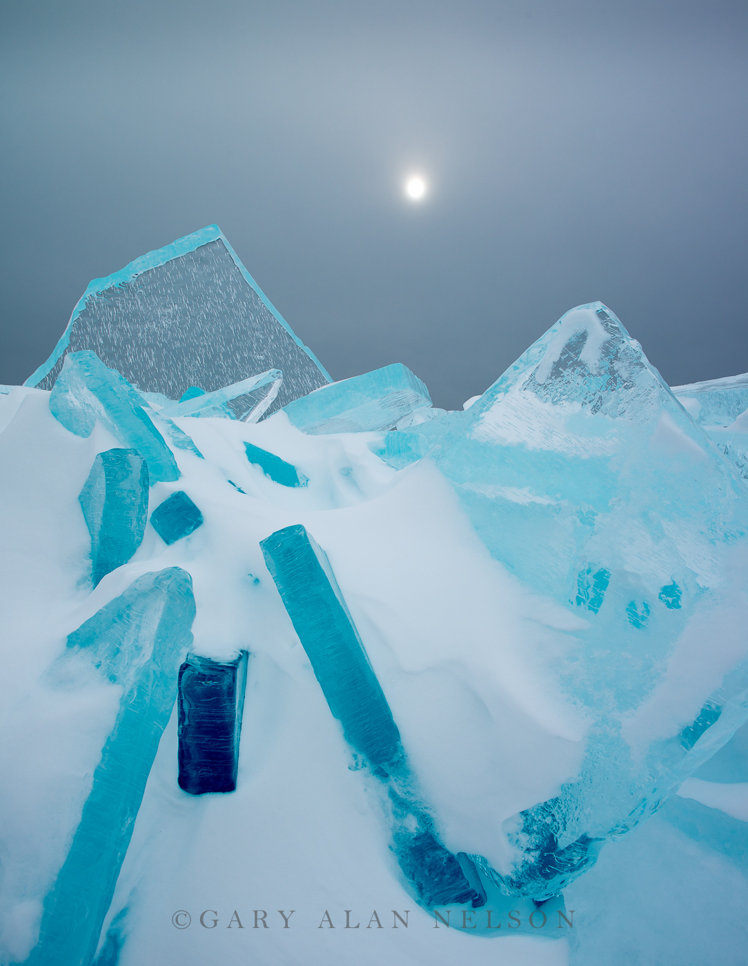 ice, sun, lake superior, minnesota, photo