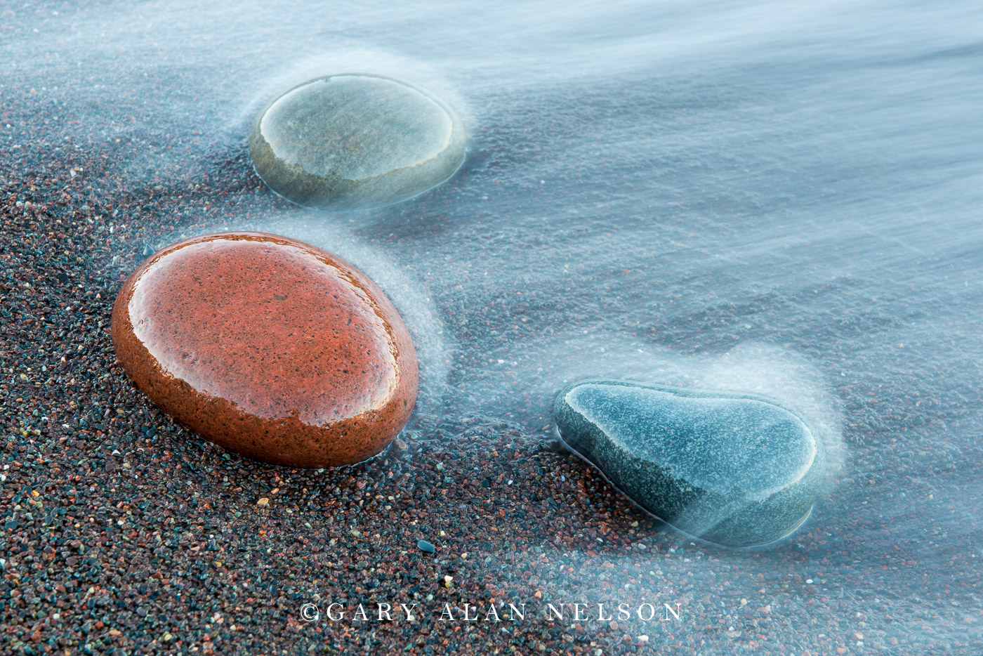 minnesota, lake superior, stones, surf, photo