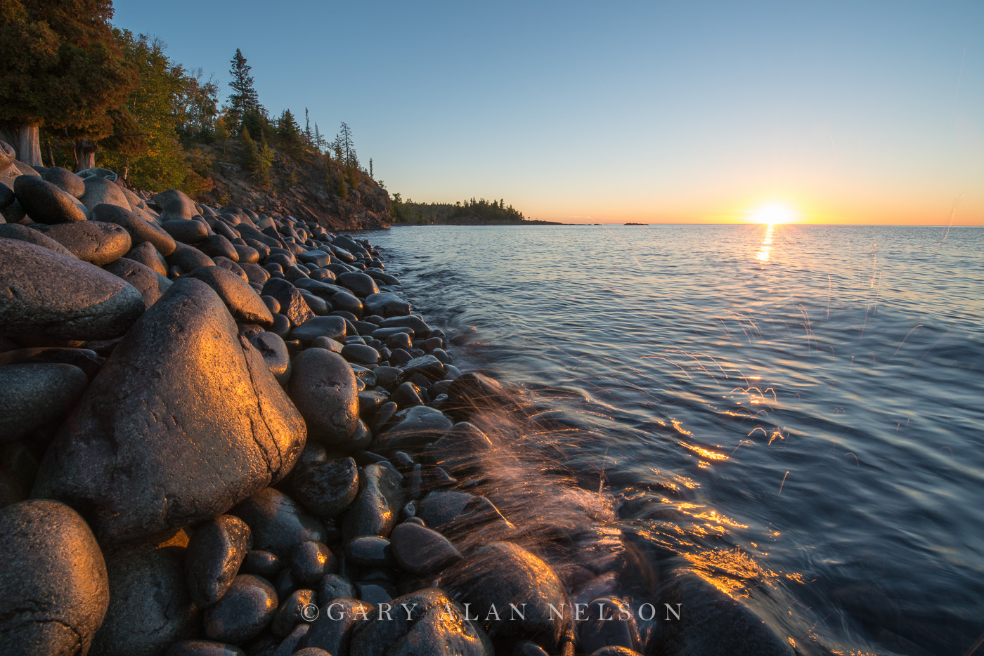 lake superior, state park, minnesota, cobble beach, sunrise, split rock, photo