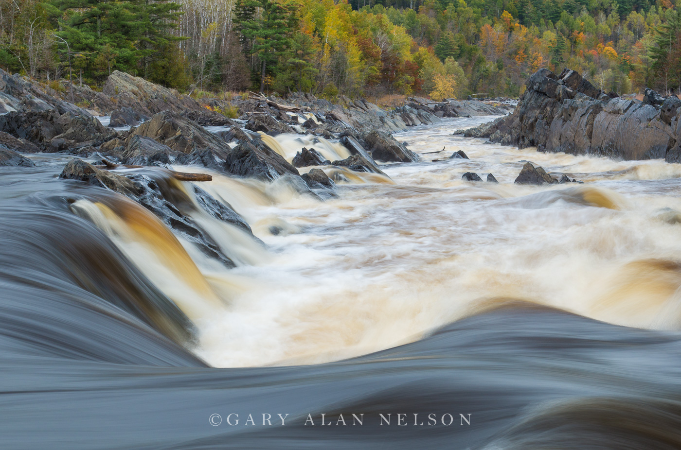 Rapid water on the St. Louis River, J. Cooke State Park, Minnesota