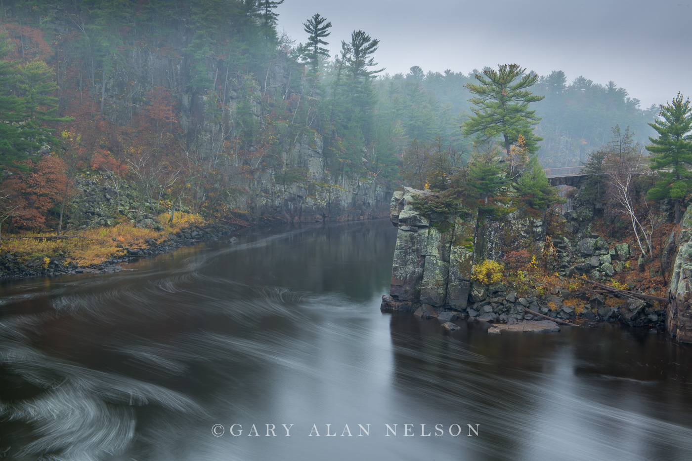 st. croix river, national scenic river, wisconsin, minnesota, fog, photo