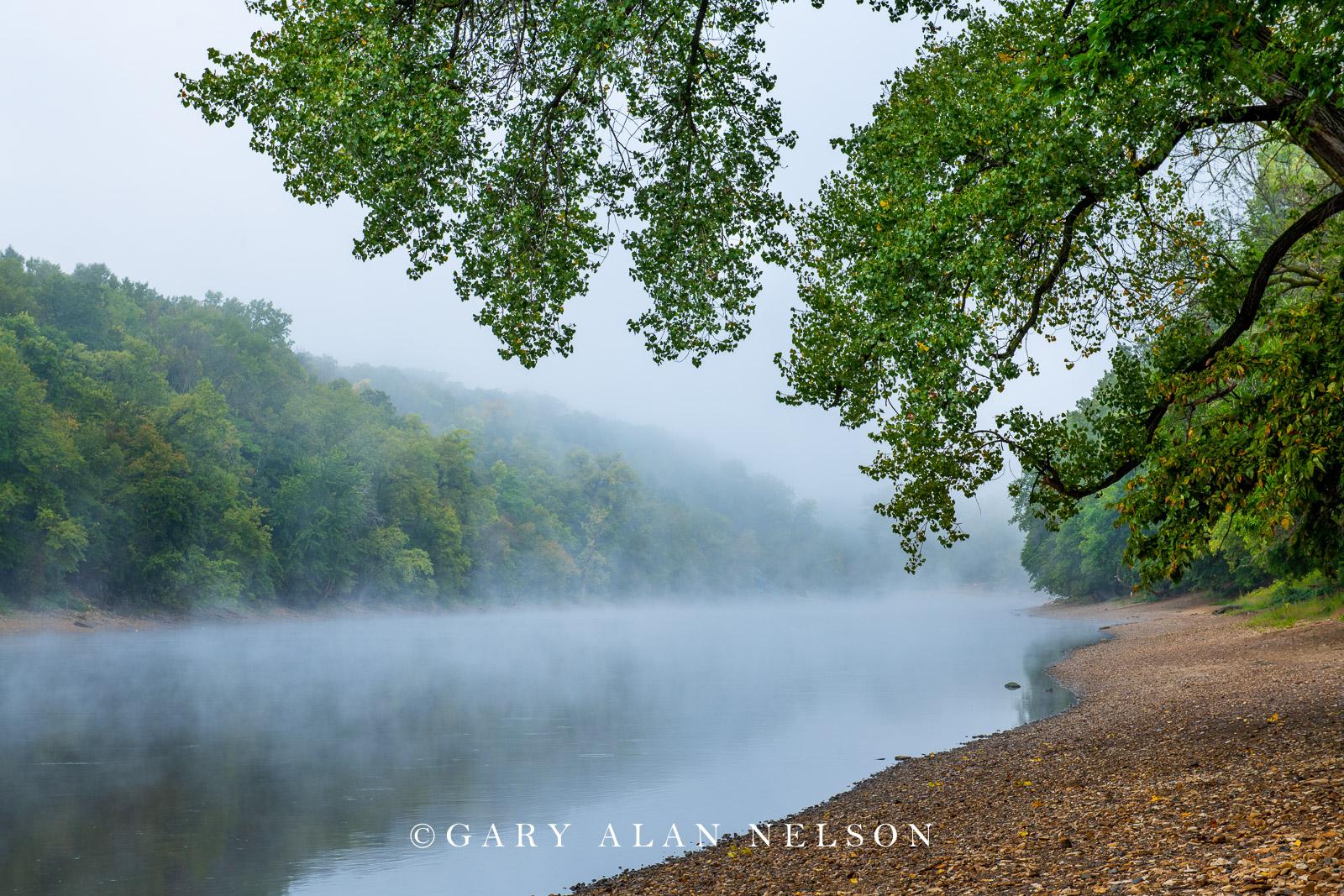Fog over the Mississippi River at Hidden Falls Park, St. Paul, Minnesota