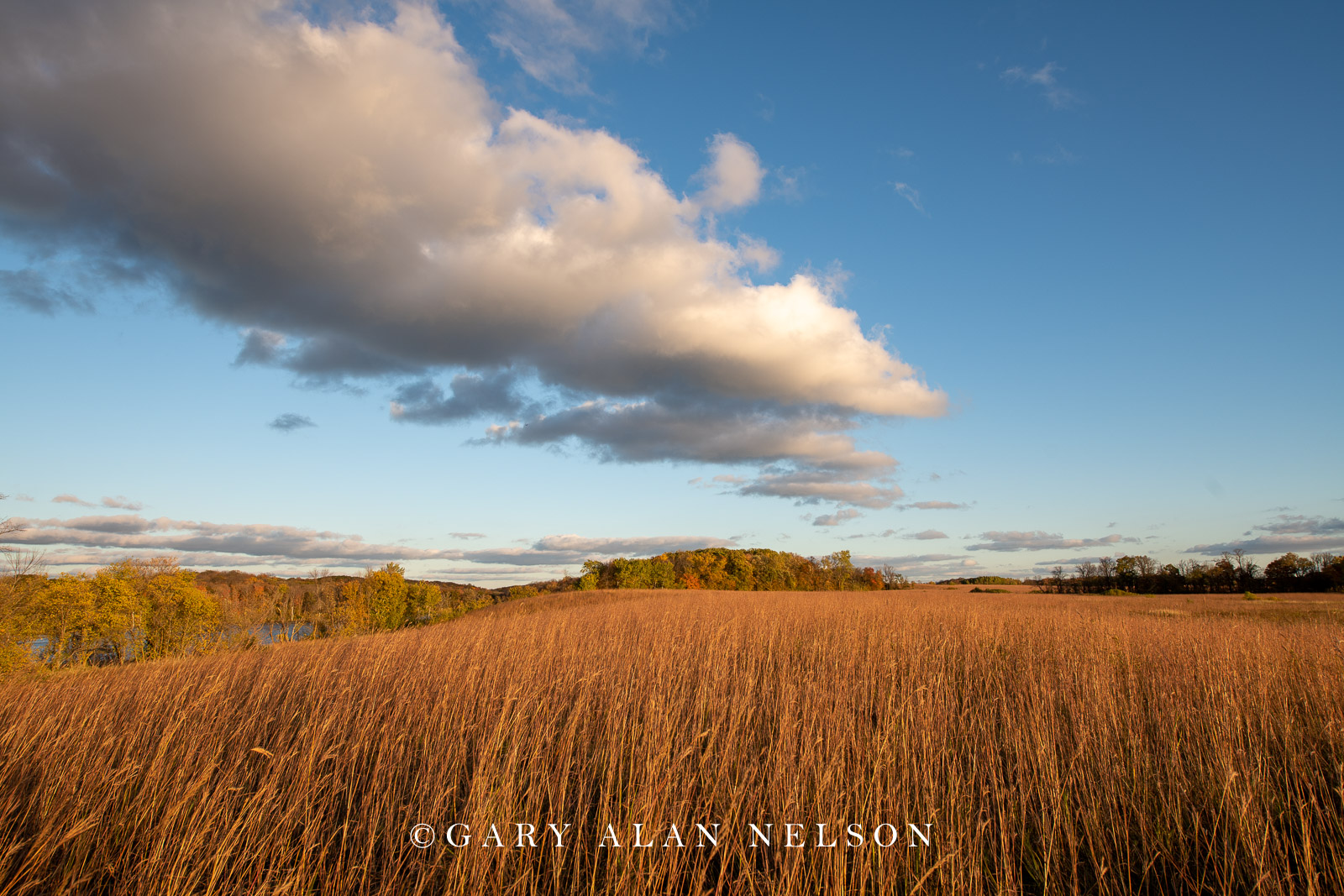 Clouds over prairie, Maplewood State Park, Minnesota
