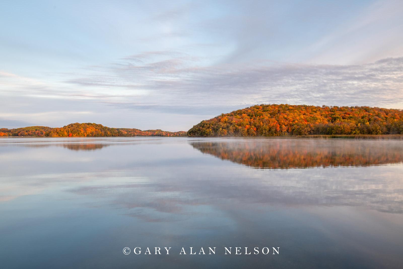 Autumn over Lake Lida, Maplewood State Park, Minnesota