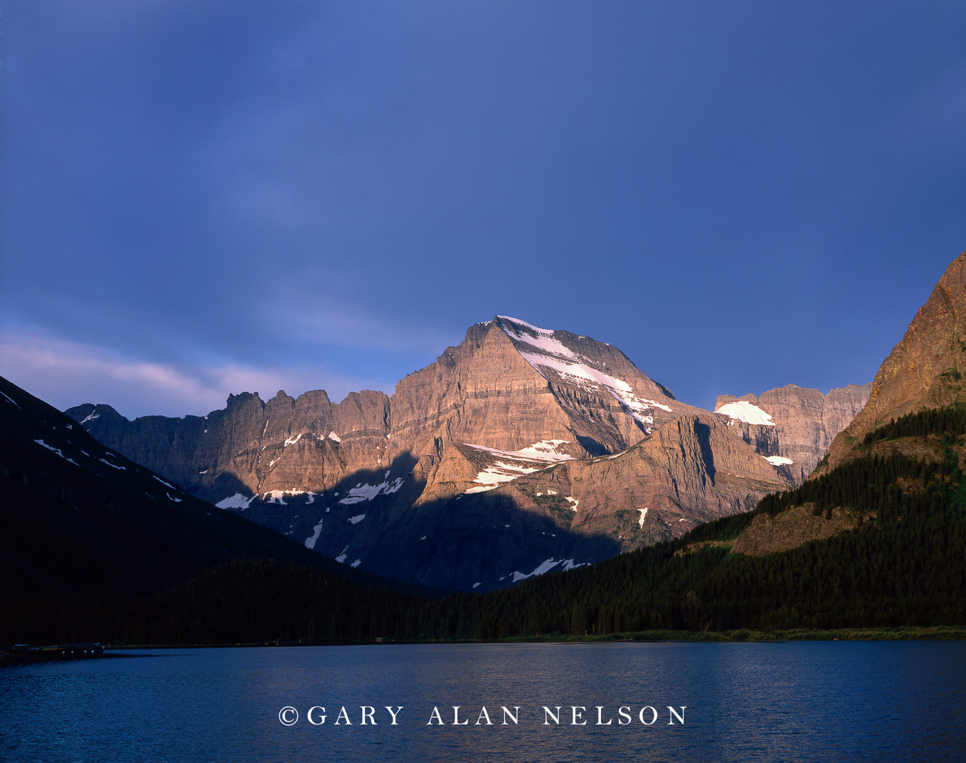 Glacier National Park, Montana, Swiftcurrent Lake, Mt. Gould, photo