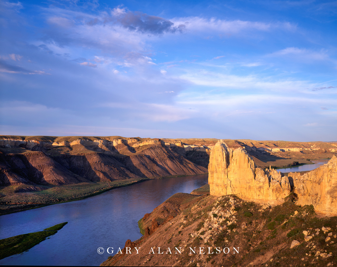 Upper Missouri Wild and Scenic River, Montana, lewis and clark national historic trail, badlands, castle rock, photo