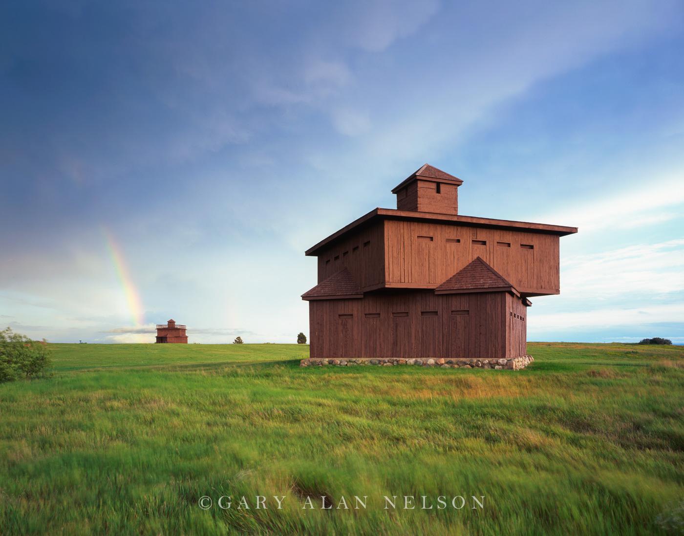 North Park Lincoln >> Rainbow over Ft. Abraham Lincoln | Ft. Abraham Lincoln State Park, North Dakota | Gary Alan ...