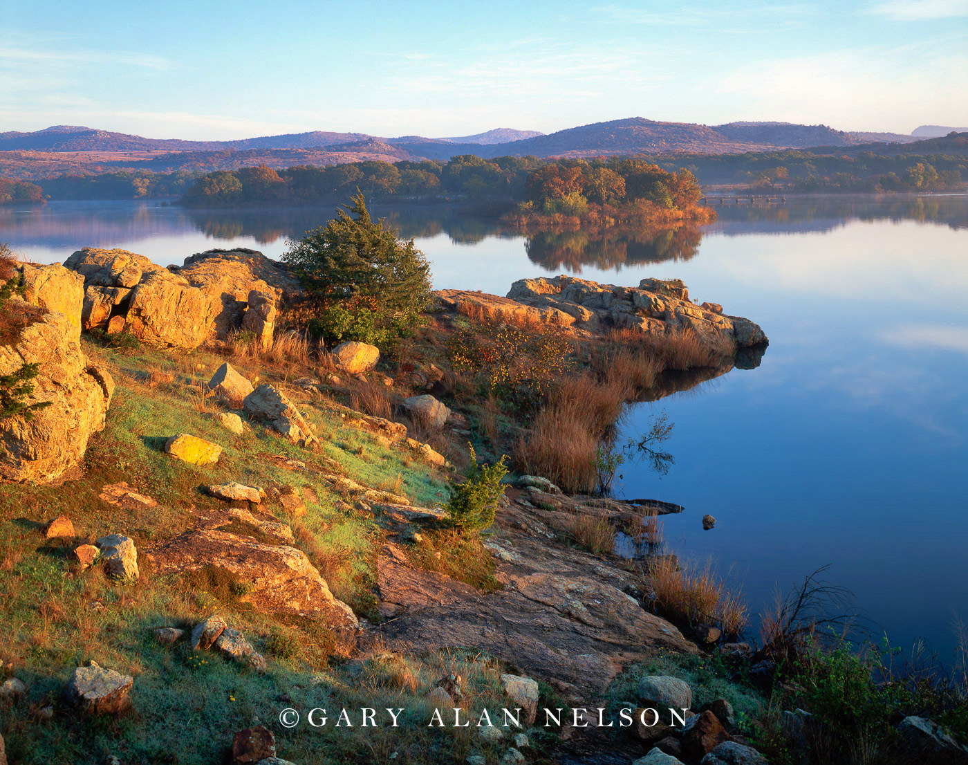 Wichita Mountains National Wildlife Refuge, Oklahoma, lake, photo