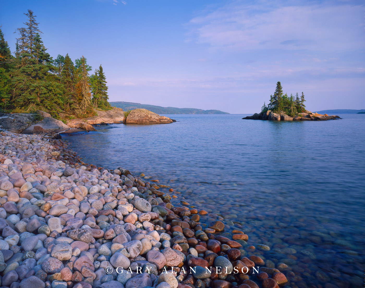Rainbow Falls Provincial Park, Ontario, Canada, lake superior, rocks, island, photo