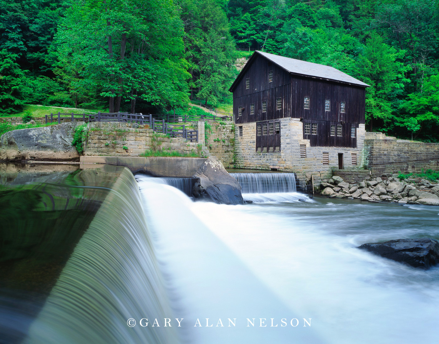 pennsylvania, grist mill, creek, state park, photo