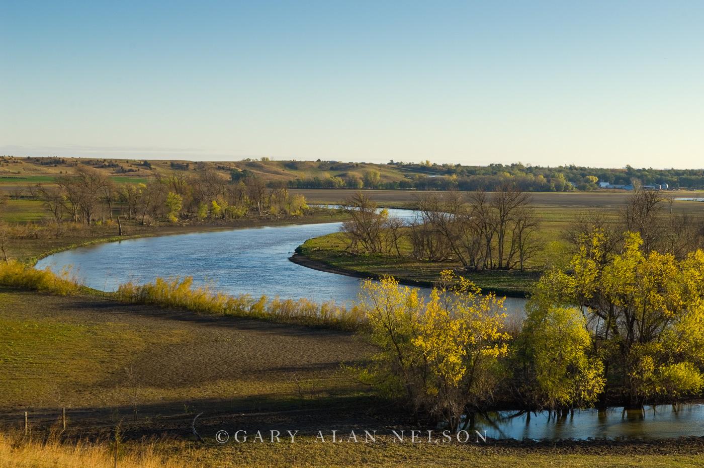 SD-11-23-SC Autumn along the James River, Hutchinson County, South Dakota