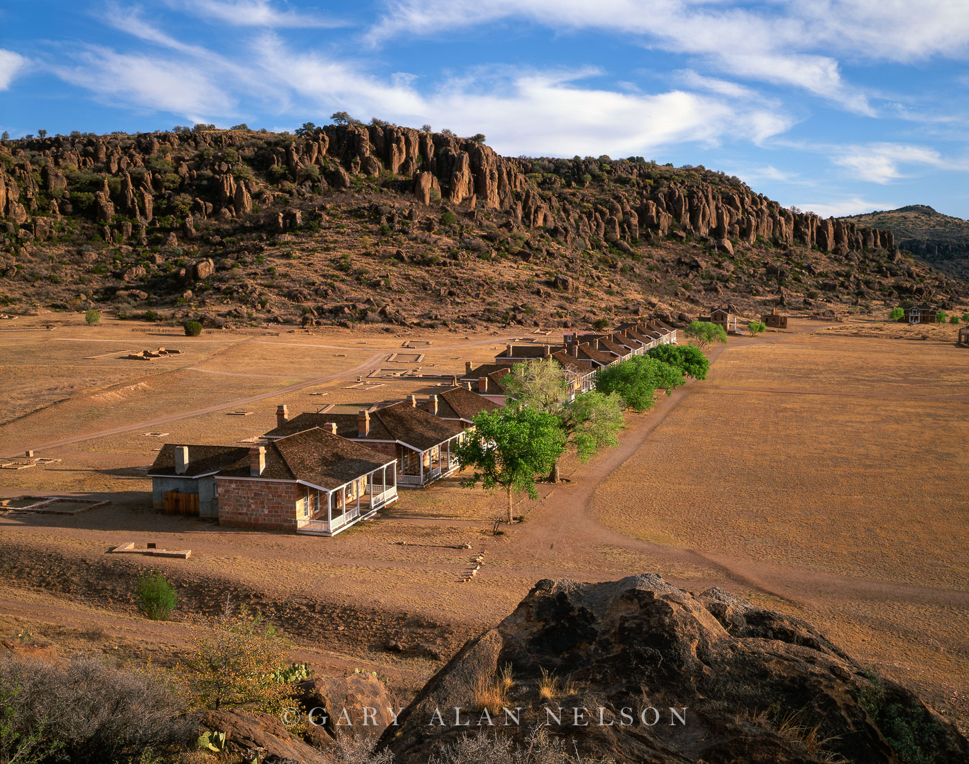 Fort Davis National Historic Site, Texas, officers row, photo