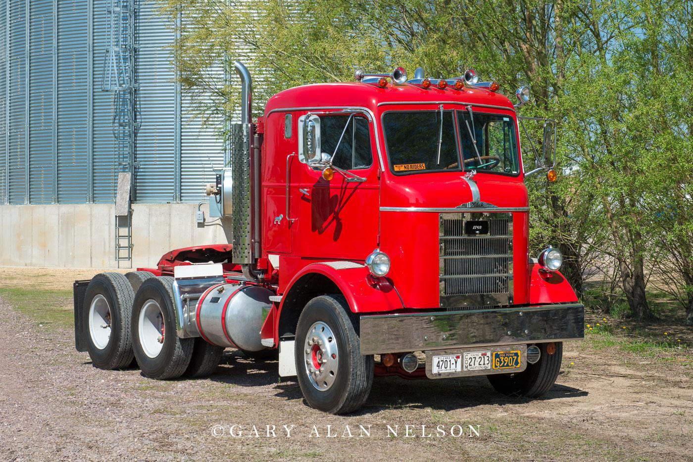 antique truck, old truck, mack, photo