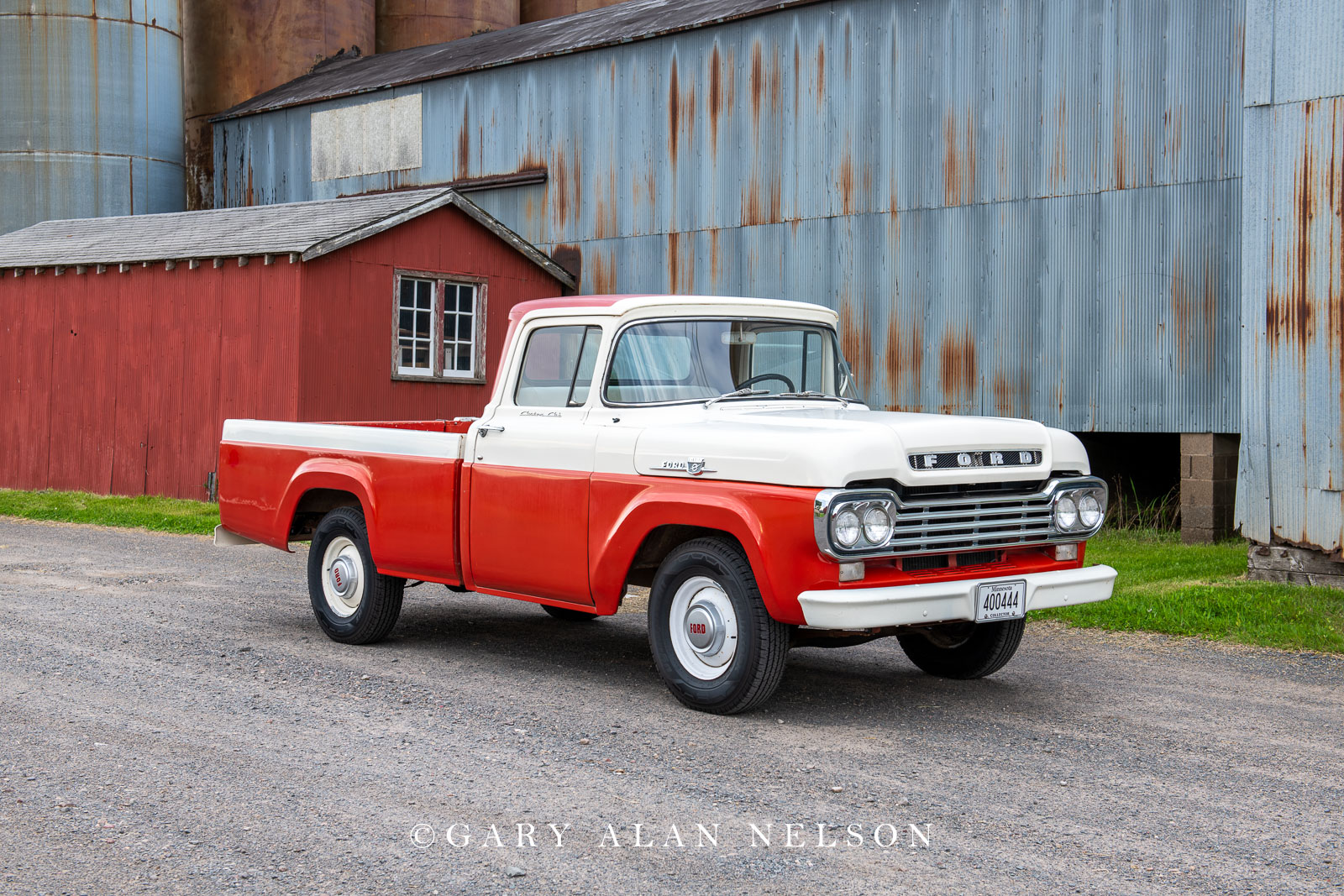 Ford, antique truck, pickup, pickup truck, vintage truck,1959 Ford F-100 longbed pickup., photo