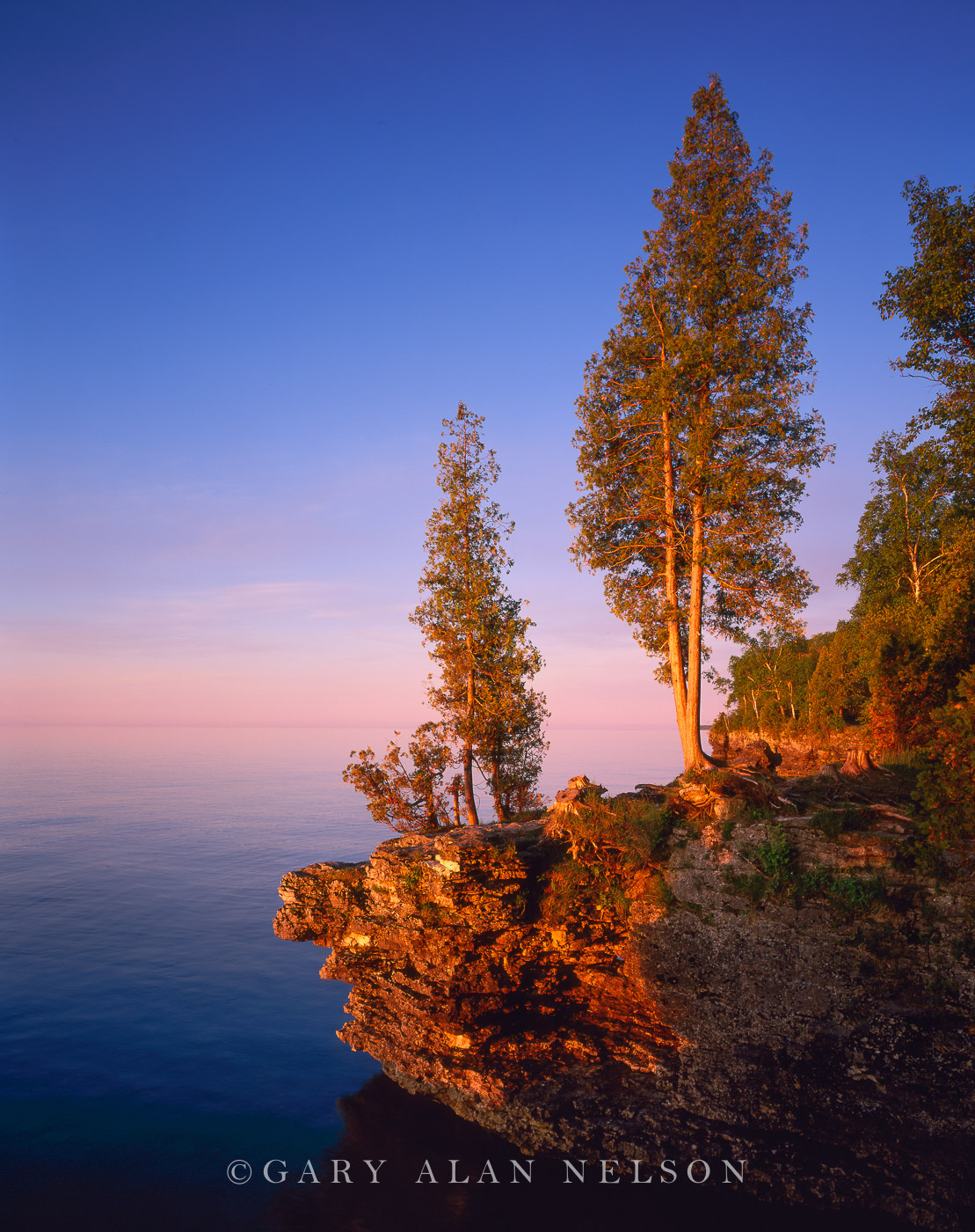 Door County, Lake Michigan, Wisconsin, cave point, photo
