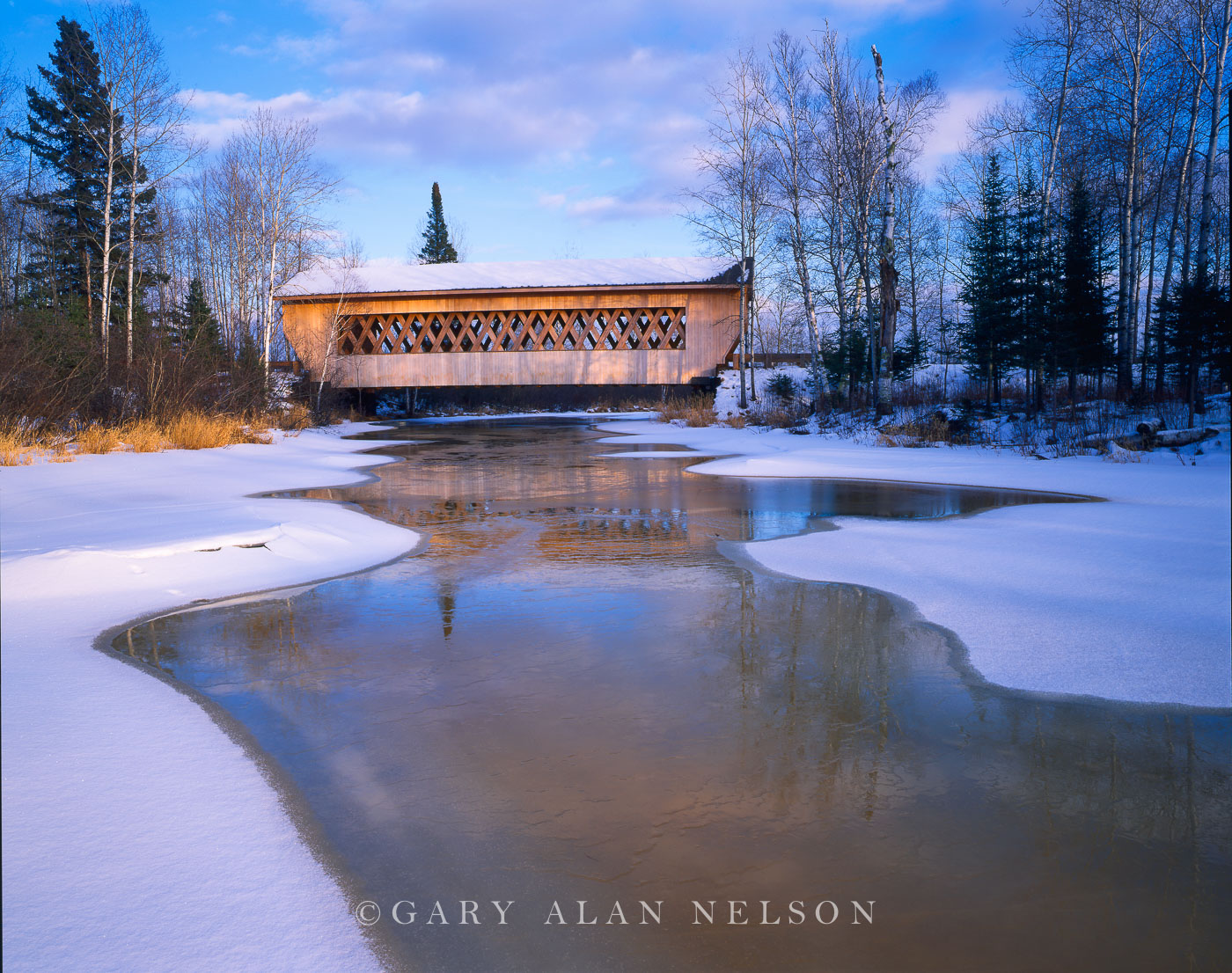 Chequamegon National Forest, Wisconsin, covered bridge, photo