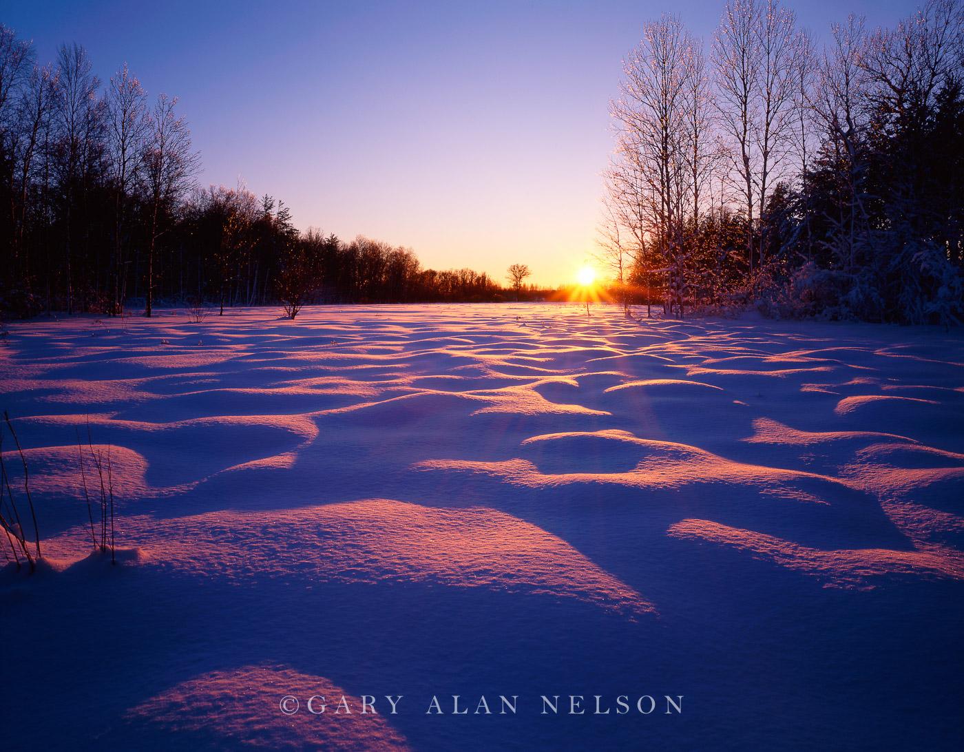 Fish Lake State Wildlife Area, Wisconsin, snow, photo