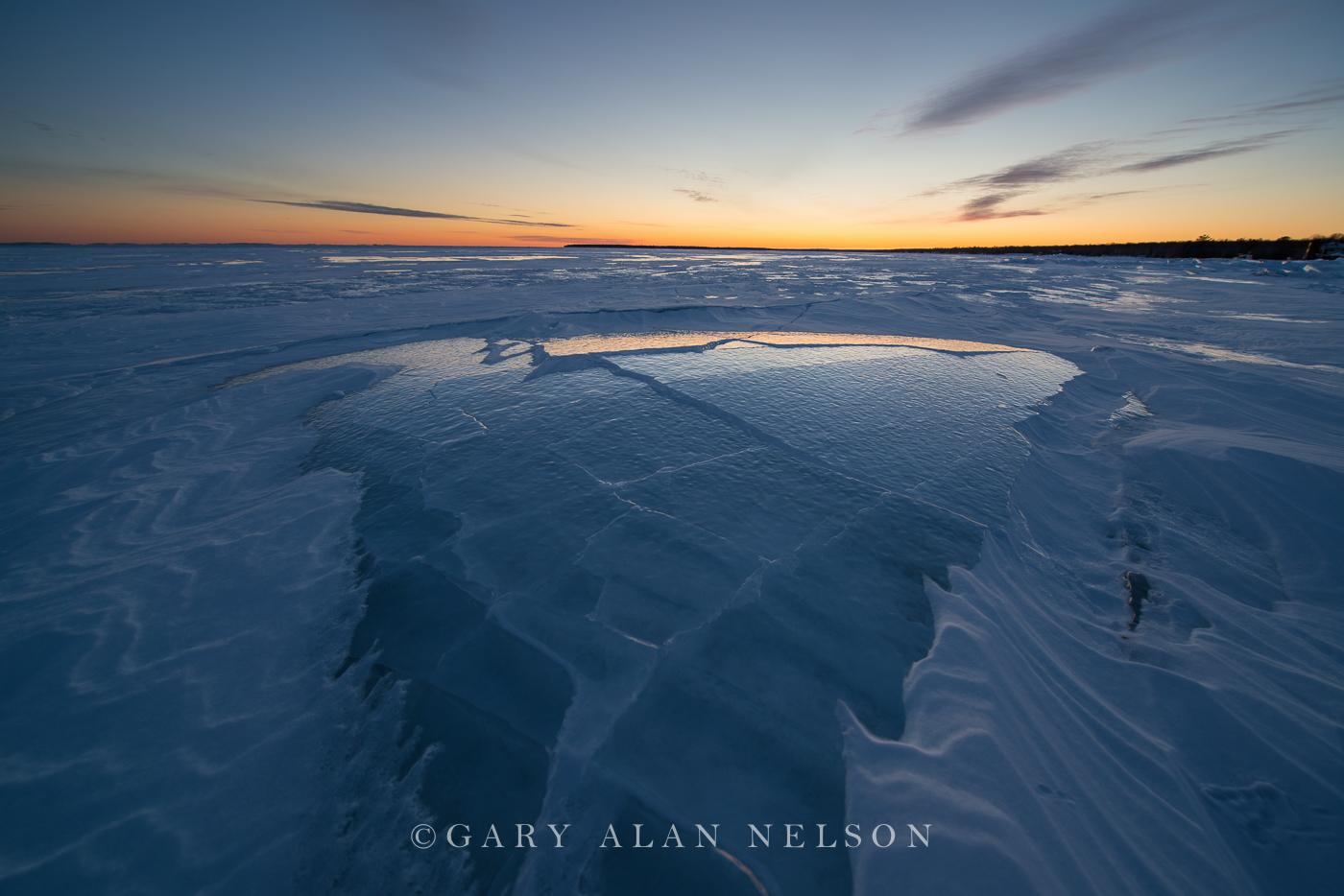 Fractured Ice on Lake Superior, Madeline Island, Apostle Islands National Lakeshore, Wisconsin
