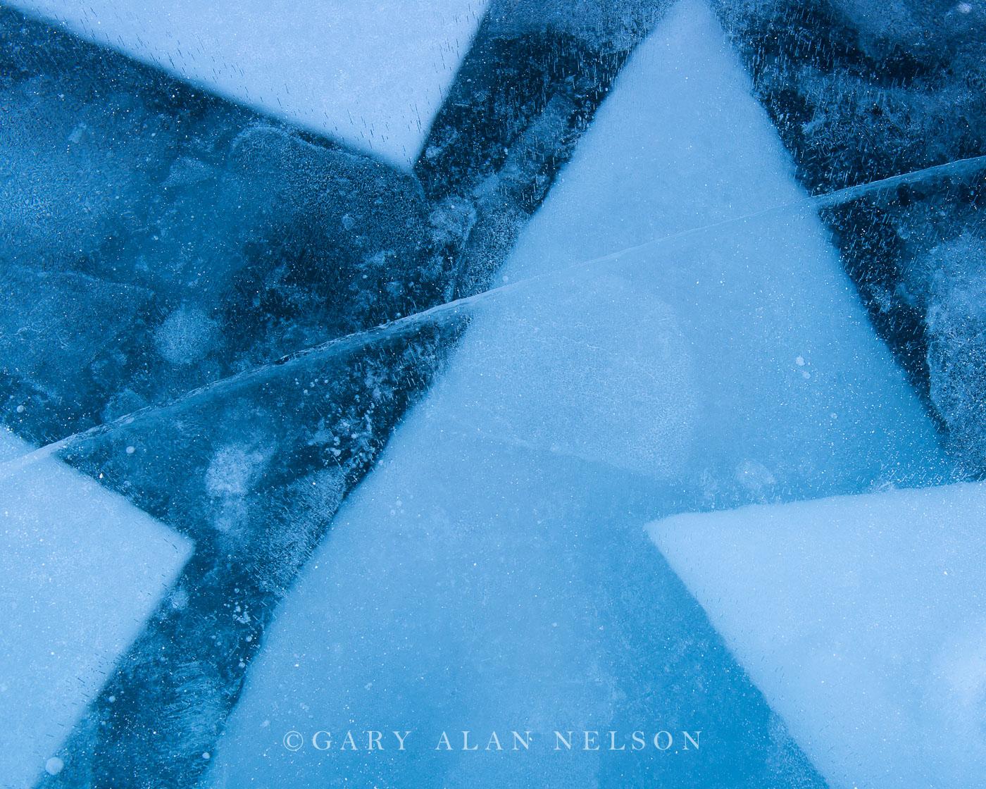 Layers of Ice on Lake Superior, Madeline Island, Apostle Islands National Lakeshore, Wisconsin